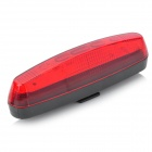 7-Mode 5-LED Red Light Safety Tail Light w/ Bike Mount - Red + Black