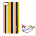 iEasypatch Soft Foam 3D Back Sticker for Iphone 4 / 4S - Earth Yellow + Black + White + Yellow