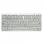 Bluetooth V2.0 Wireless 78-Key Keyboard for Ipad / Ipad 2 / the New Ipad - White + Silver
