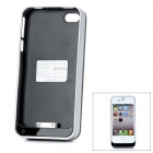 "iFans External ""1800mAh"" Battery ABS Back Case for iPhone 4 / 4S - Silver + Black"