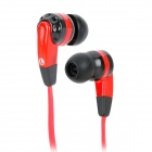 EV-2085SL Stylish Flat Cable Stereo In-Ear Earphones - Black + Red (3.5mm Plug / 130cm)