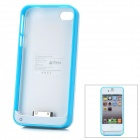 "iFans External ""1800mAh"" Battery ABS + Aluminum Case für iPhone 4 / 4S - Blau + Weiß"