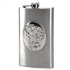 Outdoor Portable Extended Stainless Steel Liquor Flask - Silver (10oz)