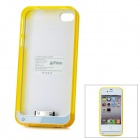 "iFans External ""1800mAh"" Battery ABS Case für iPhone 4 / 4S - Weiß + Gelb"
