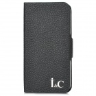 Protective Genuine Leather Case for Iphone 5 - Black