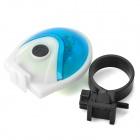 7-Mode 5-LED Bicycle Light Blue Light Tail - Azul + Blanco (2 x AAA)