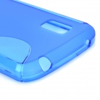 """S"" Style Protective TPU Back Case for LG Nexus 4 E960 - Translucent Blue"