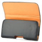 Protective Waist Belt PU Leather Case for Samsung i9100 - Black