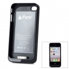 "iFans External ""1800mAh"" Battery ABS Case für iPhone 4 / 4S - Schwarz"