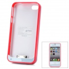 "iFans External ""1800mAh"" Battery ABS + Aluminum Case für iPhone 4 / 4S - Deep Pink"
