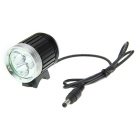 UltraFire 1400lm 4-Mode White Bicycle Lamp - Black + Silver (4 x 18650)