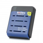 Soshine SC-S1 mix(v3) 4-Slot 18650 / 16340 Li-ion Battery Smart Fast Charger - Black + Blue