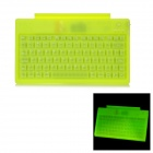 Glow-in-the-Dark 80-Key Wired Silicone Keyboard w/ Holder for iPad - Yellow