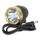 UltraFire 870lm 3-Mode White Bicycle Lamp - Black + Golden (4 x 18650)