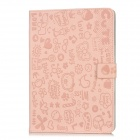 E-018P Cartoon Protective PU Leather Case for Ipad MINI - Pink