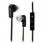 Mosidun MSD-610 In-Ear Flat Cable Earphones with Microphone - Black + White (3.5mm Plug / 110cm)