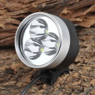UltraFire Sky 3 x Cree XM-L T6 2000lm 4-Mode White Bicycle Lamp - Black + Silver (4 x 18650)