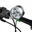 UltraFire Sky 2000lm 4-Mode White Bicycle Lamp - Black + Silver (4 x 18650)