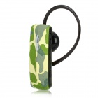 R520 Bluetooth v2.1 Stereo Headset w/ Microphone - Camouflage Green