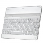 Bluetooth v3.0 82-Key Keyboard w/ Aluminum Alloy Protective Case for iPad 2 / 3 / 4 - White + Silver