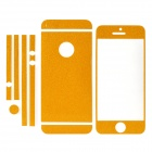 ISME Protective Glitter Front + Back + Frame Skin Stickers Set for Iphone 5 - Golden Yellow