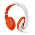 Kanen MC-780 Stylish Game Headphone w/ External Microphone - White + Orange (3.5mm Plug / 120cm)