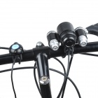 YP-3008A 800~1000lm 3-Mode White Bicycle Lamp - Black + Silver (4 x 18650)