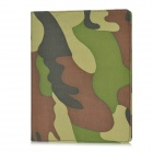 Protective PU Leather Stand Case for iPad 2 / the New iPad - Army Green