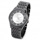 Feiwo 8066G Casual Stainless Steel Band Quartz Analog Waterproof Wrist Watch - Black + Silver