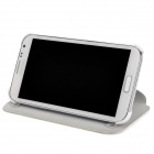 Protective Flip-Open PU Leather Case for Samsung Galaxy Note 2 N7100 - White