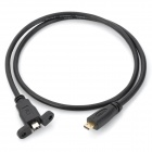 Gold Plated Micro HDMI v1.4 Male to Female Extension Cable - Black (60cm)