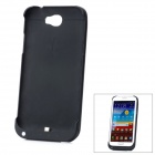 5V 3200mAh Mobile External Battery Charger Case for Samsung N7100 - Black