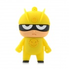 160 Cute Cartoon Style USB 2.0 Flash Drive Disk - Yellow + Black (8GB)