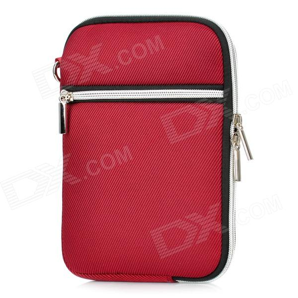 "Protective Padded Zippered Inner Bag for All 7"" Tablet PCs - Purplish Red"