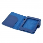 Protective PU Leather Flip Open Case for Kindle 5 - Blue