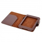 Protective PU Leather Flip Open Case for Kindle 5 - Deep Brown