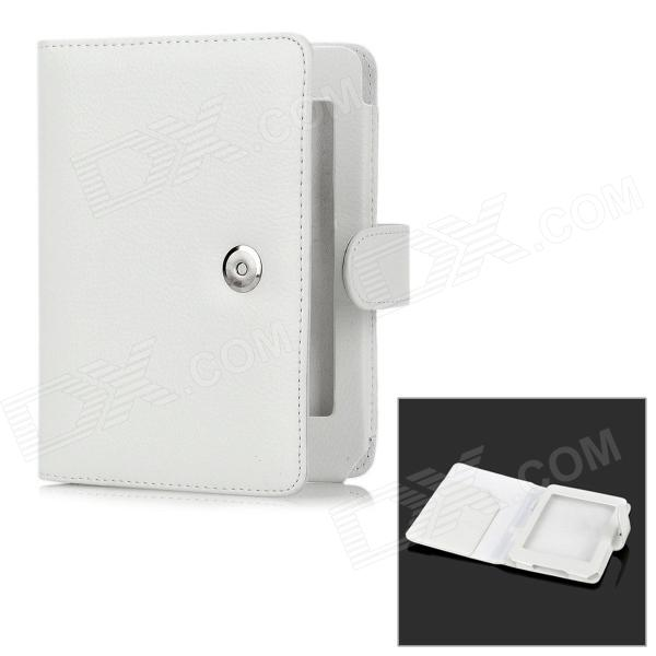 Protective PU Leather Flip Open Case for Kindle 5 - White