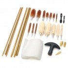 Copper + Plastic Gun Cleaning Brushes Set - Black + Golden + More
