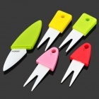 PG-1306 Ceramic Fruit Forks Set - Multicolored (5 PCS)