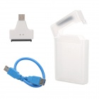 "USB 3.0 to SATA Adapter + 2.5"" SATA Mobile HDD Enclosure Case + USB 3.0 Female to Male to Cable Set"