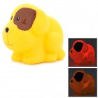 2032 Cute Children Bathing Funny LED Flashing Mini Dog Toy - Yellow (1 x LR626)