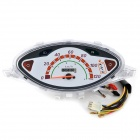 AK-MY-076 Motorcycle Electronic Fuel Gauge / Odometer / Speedometer for Honda BIZ C100 - White
