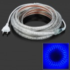 72W 800lm 475nm 300-SMD 5050 LED Blue Light Flexible Strip - Transparent (220V / EU Plug / 500cm)