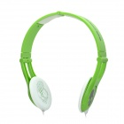 Discrete Stylish Headset Headphones - Green + White (3.5mm Plug / 137cm-Cable)