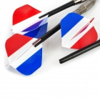 The French Flag Pattern Professional Sharp Tungsten Steel Darts for Dart Game - Beige Grey + More