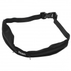Outdoor Sports Running Cycling Mini Zipper Belt Bag - Black