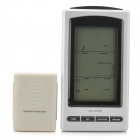 WS1065 4.9&quot; LCD Wireless Weather Station w/ Outdoor Temperature &amp; Humidity Sensor - Silver + Black