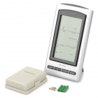 "4.9"" LCD Wireless Weather Station w/ Outdoor Temperature & Humidity Sensor - Silver + Black"