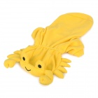 Crab Style Cotton + Polyester Pet Dog Apparel Clothes - Yellow (Size M)