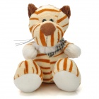 Cute Tiger Shaped Plush Toy w/ Suction Cup - Beige + Brown